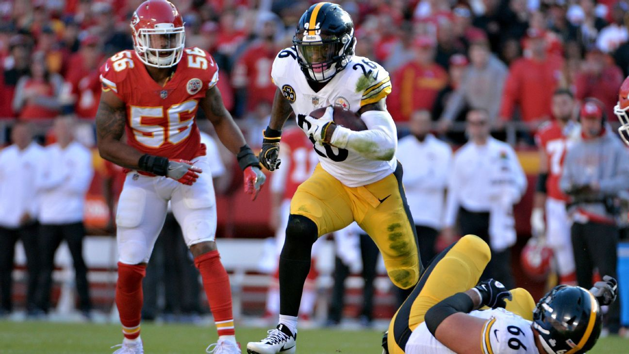 Le'Veon Bell, Derrick Johnson, David DeCastro, Steelers vs Chiefs