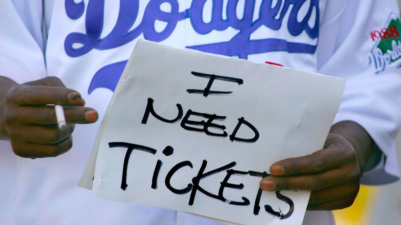 Prices for World Series tickets at Dodger Stadium soar