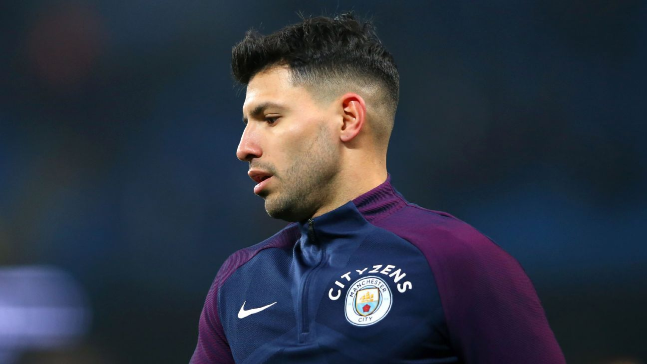 Manchester Citys Sergio Aguero Set For Two Week Layoff With Knee Injury