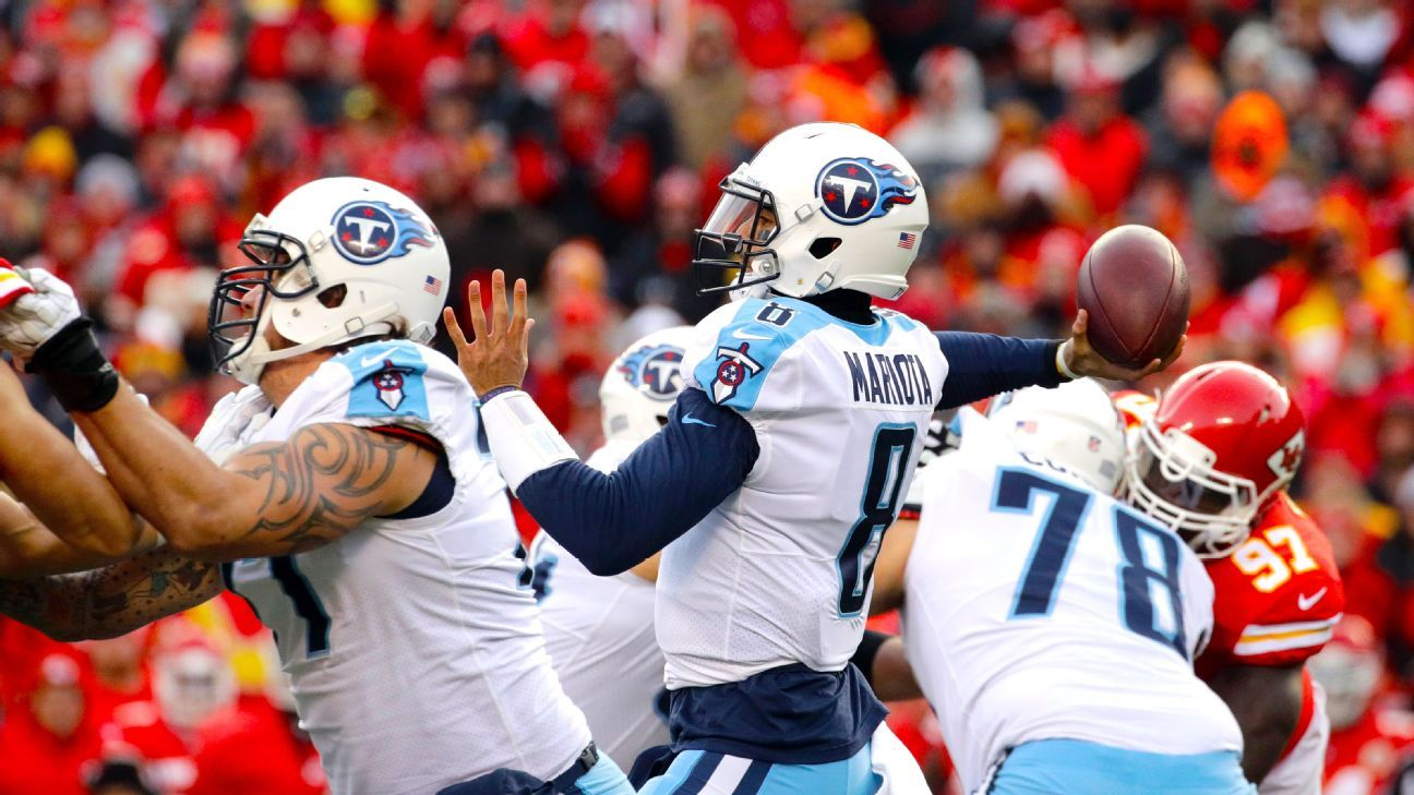 Patriots to host Titans in playoffs, with first extended look at Marcus Mariota