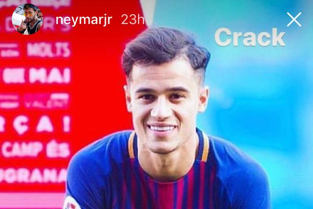 neymar trolls barcelonas philippe coutinho over hairstyle