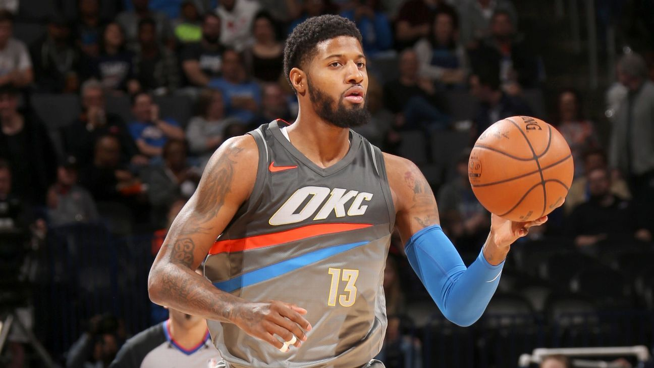 Oklahoma City Thunder forward Paul George will replace New Orleans Pelicans center DeMarcus ...