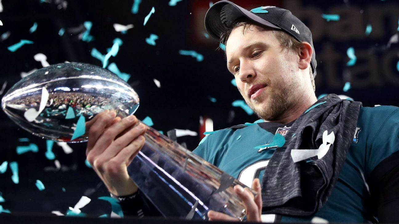 Nick Foles, who recounted his journey to Super Bowl MVP in his autobiography,