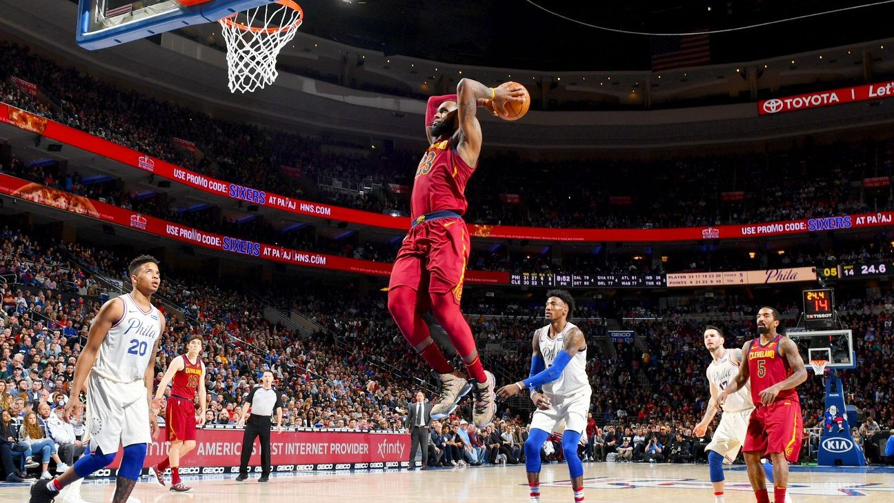 PHILADELPHIA -- Larry Nance Jr. s tip-in attempt off an intentionally  missed free throw by LeBron James bounced off the rim at the buzzer 517bb37e5