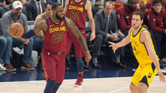 Cavs' role players step up to support LeBron and tie series with Pacers (espn.com)