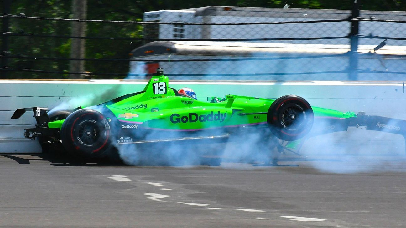 Danica Patrick crashes out of Indianapolis 500, her final race