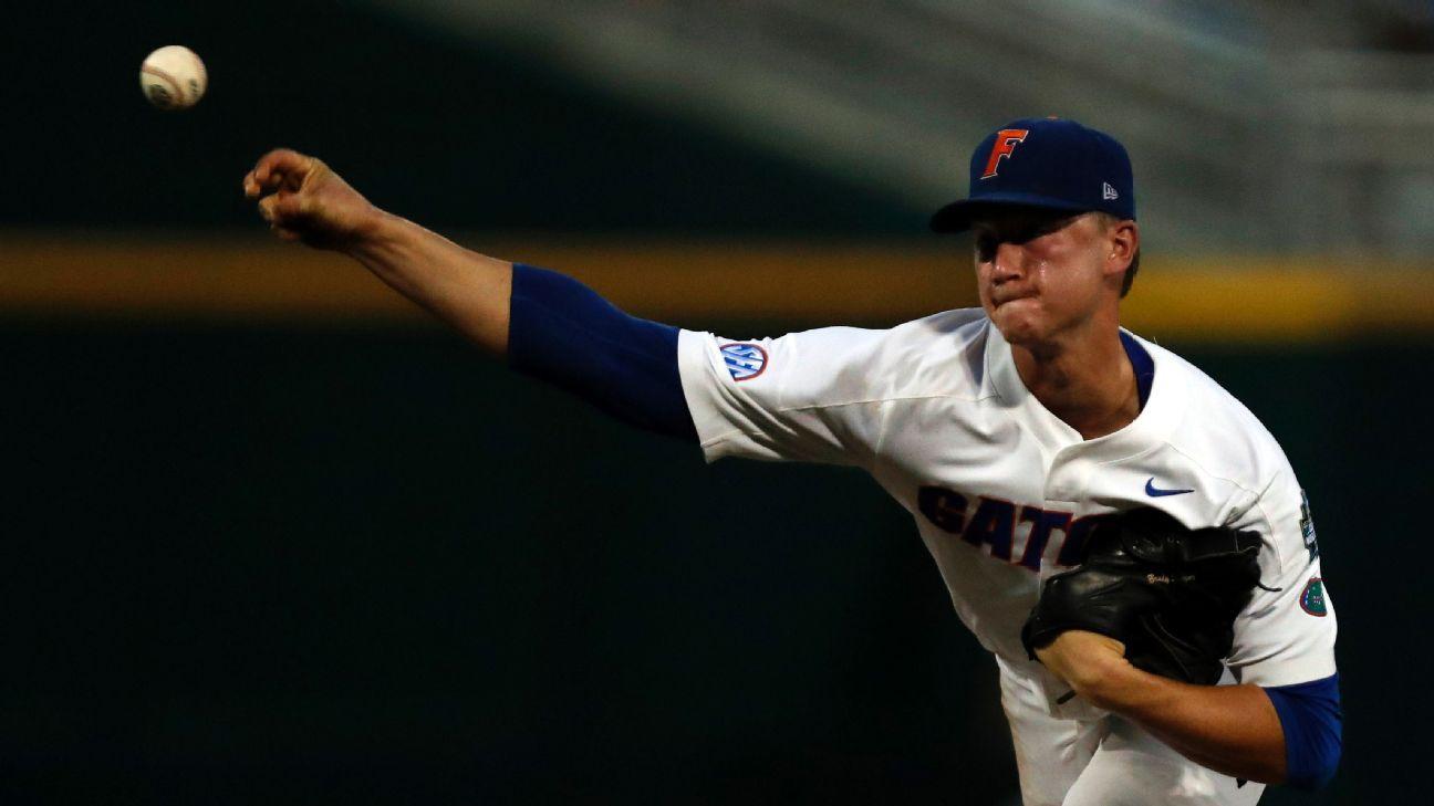 Brady Singer struggles as defending champ Florida lose to Texas Tech