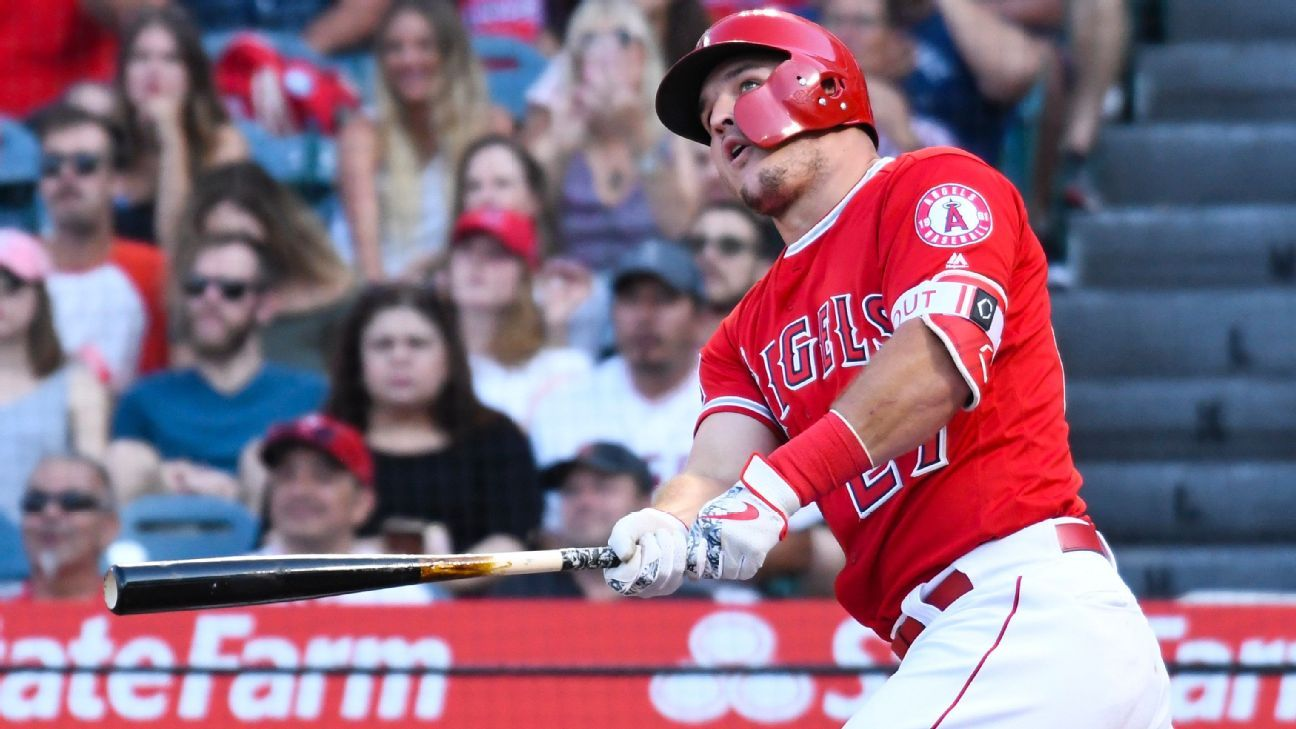 Los Angeles Angels Of Mike Trout Placed On Dl With Right Wrist Inflammation