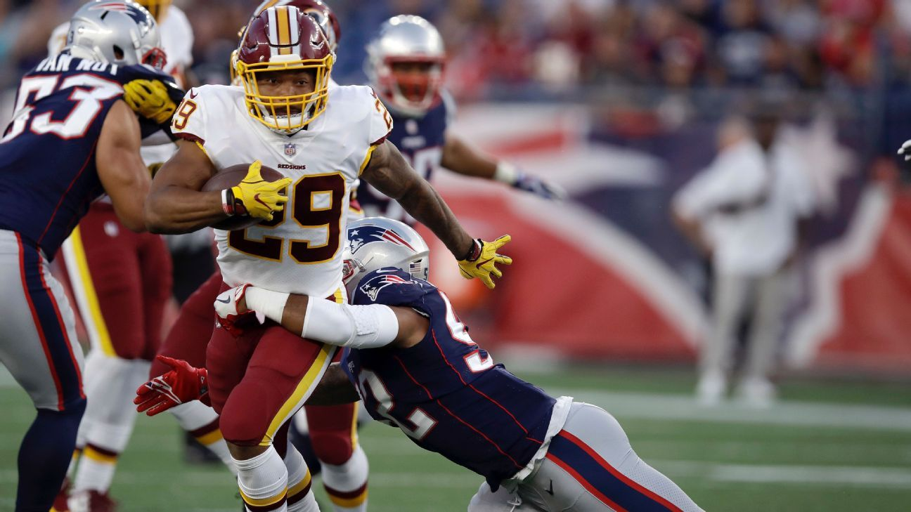 Washington Redskins rookie running back Derrius Guice out for season