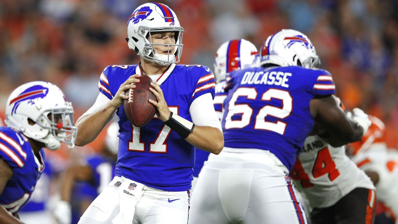 Josh Allen of Buffalo Bills to start at quarterback Sunday against Cincinnati Bengals