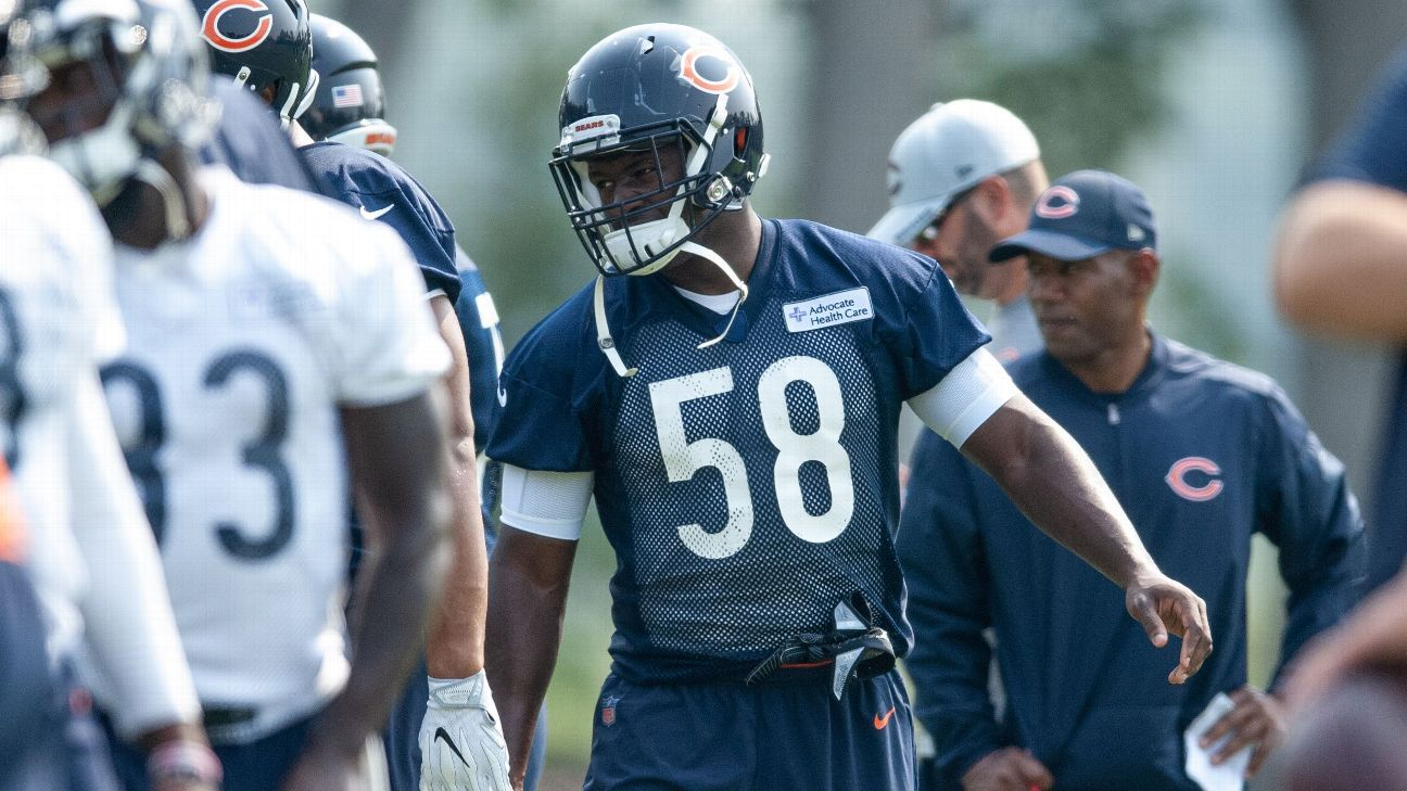 Bears' 53-man roster projection has extra tight ends, linebackers - Chicago Bears Blog- ESPN