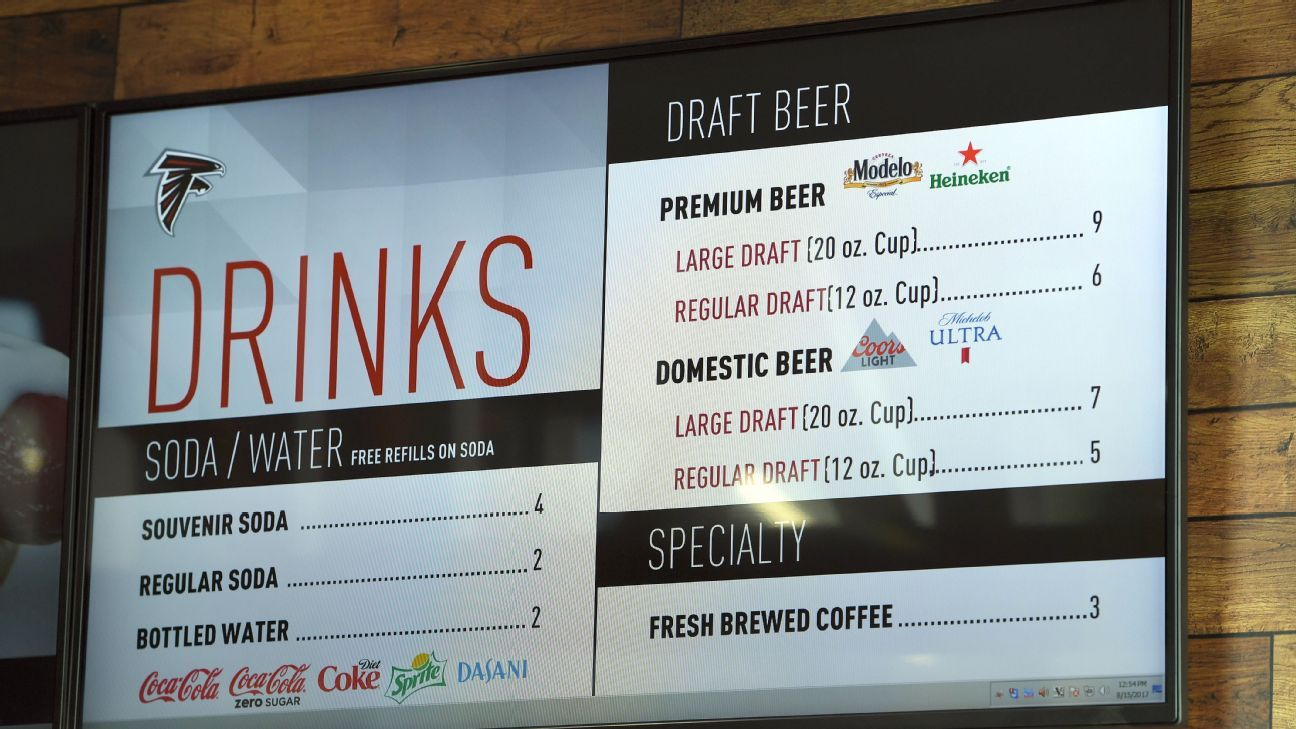Atlanta Falcons to sell $5 craft pale ale at home games ...