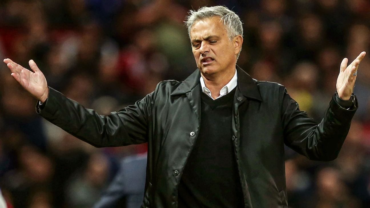 United players 'angry' with Mourinho - sources