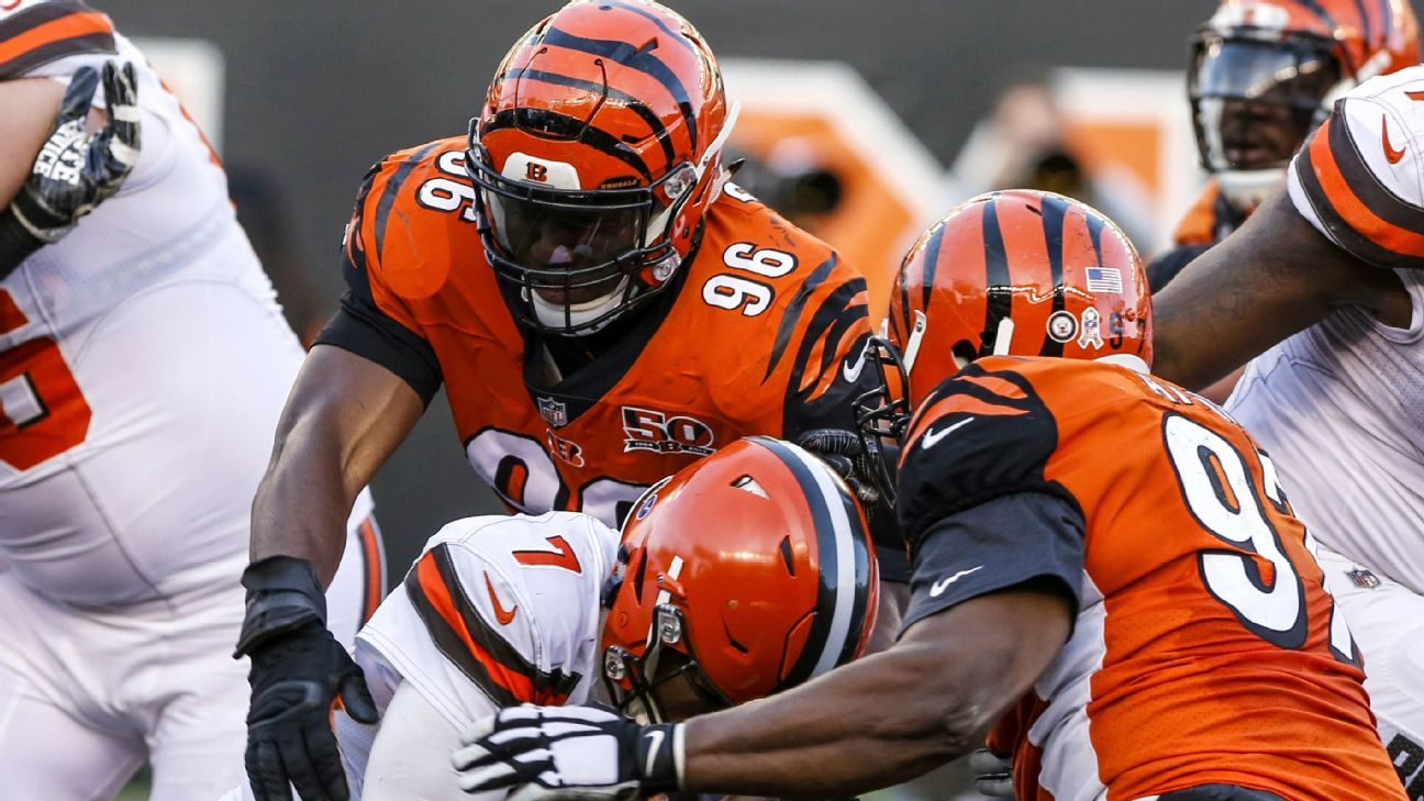 The Bengals got deals done Tuesday with both Carlos Dunlap and Geno Atkins, who are No. 1 and No. 2, respectively, in franchise sacks.