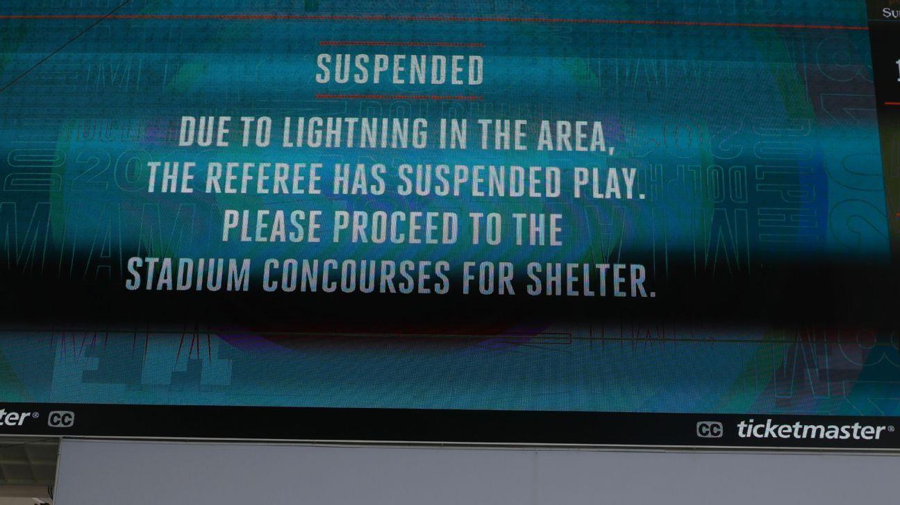 Tormenta eléctrica interrumpió el partido entre los Tennessee Titans ...