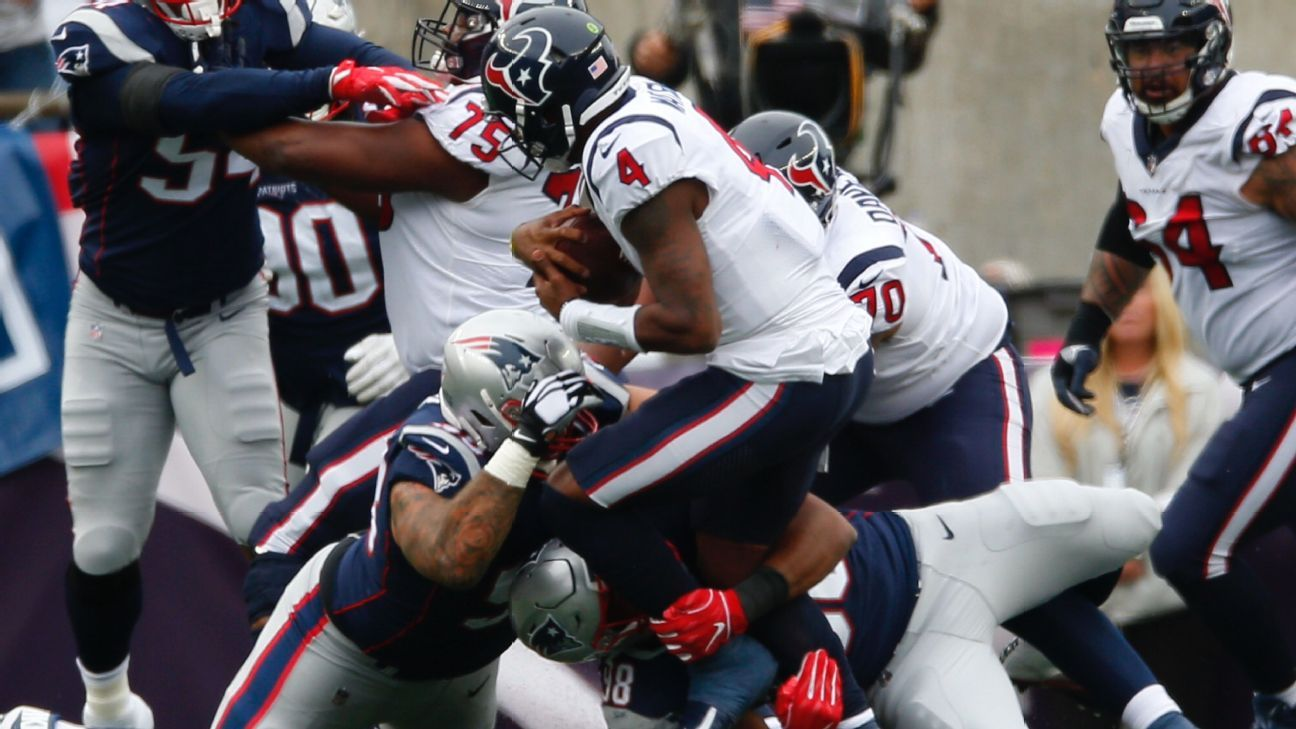 QB Deshaun Watson of Houston Texans after loss to New England Patriots 'You can put the L on me'