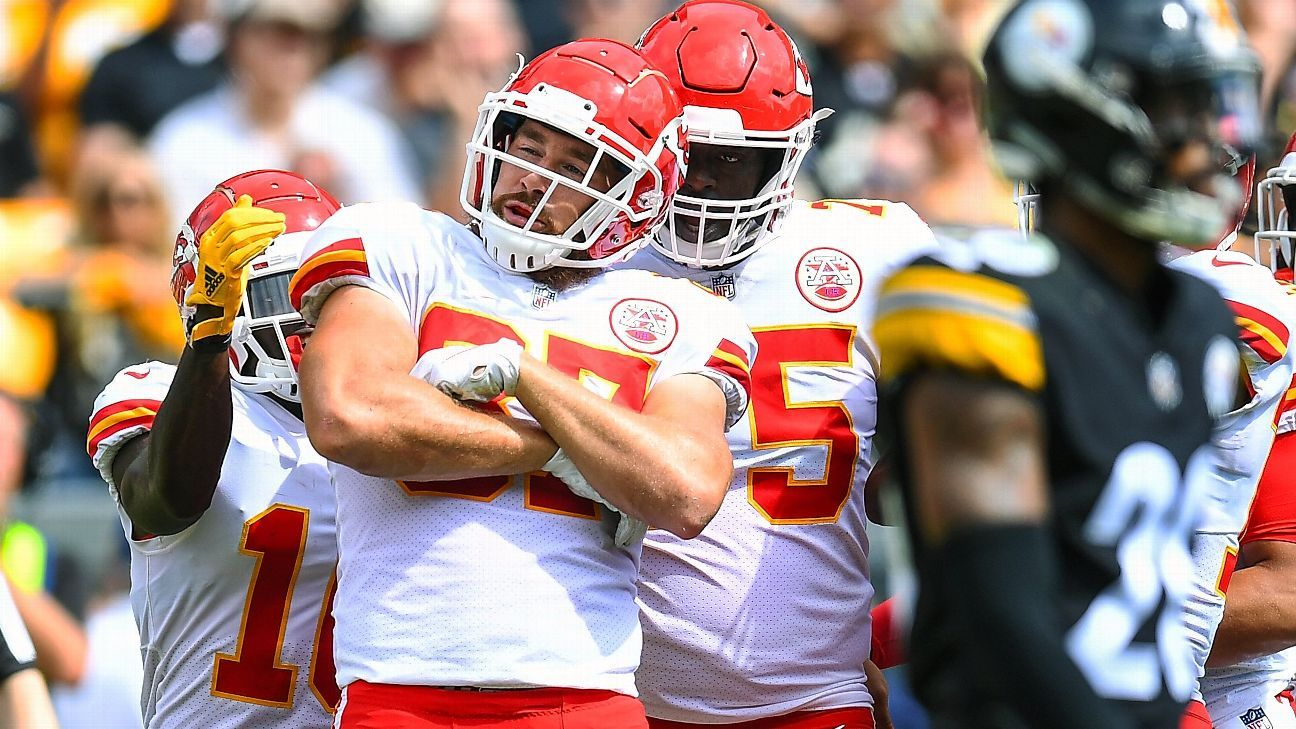 The Chiefs have scored 80 points in two games, and quarterback Patrick Mahomes has thrown 10 touchdowns to seven different receivers.