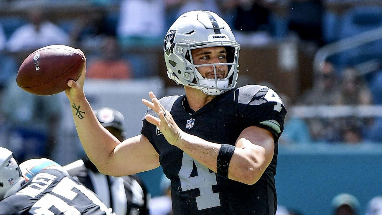 Raiders quarterback Derek Carr acknowledged that it's