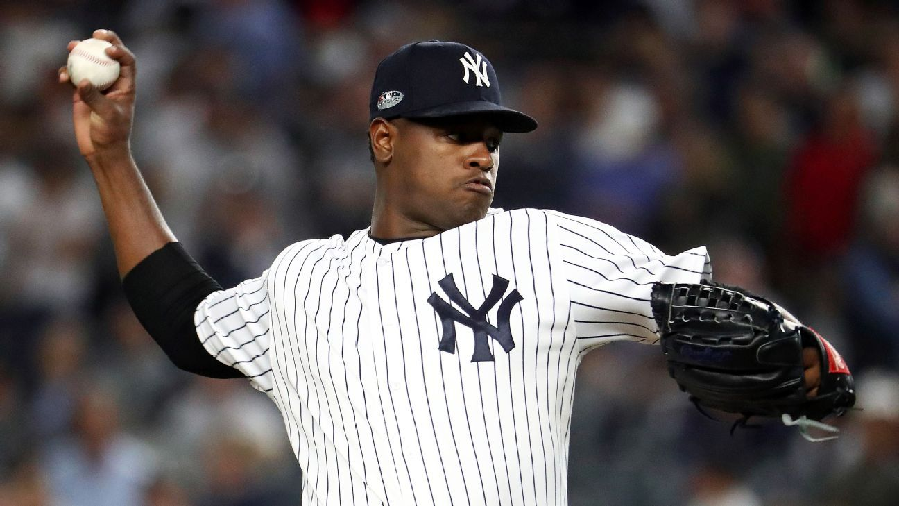 9a899e5c8 NEW YORK -- New York Yankees starting pitcher Luis Severino contends he was  not rushed as he went through what he considered a normal pregame warm-up  ...
