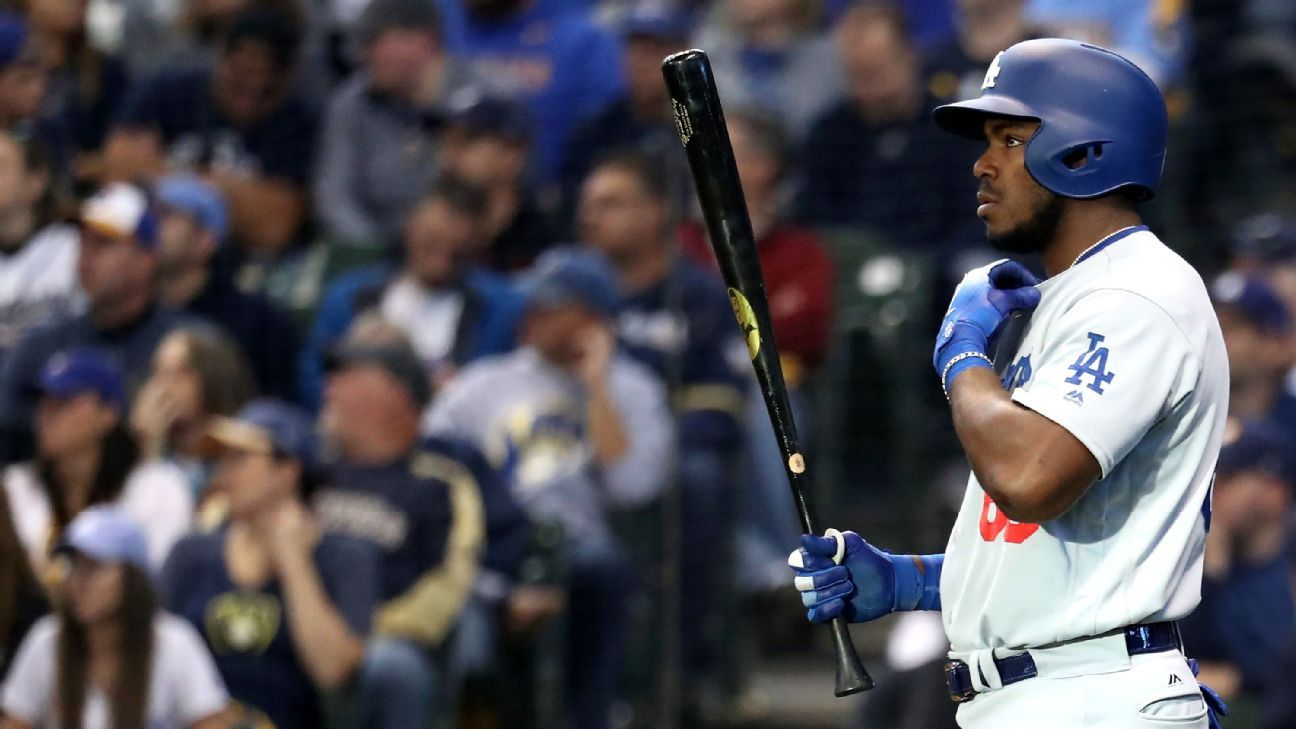 The enigmatic L.A. outfielder has been more miss than hit against the Brewers. What are the Dodgers doing to keep a slugger who can change the series at any given moment from falling apart?