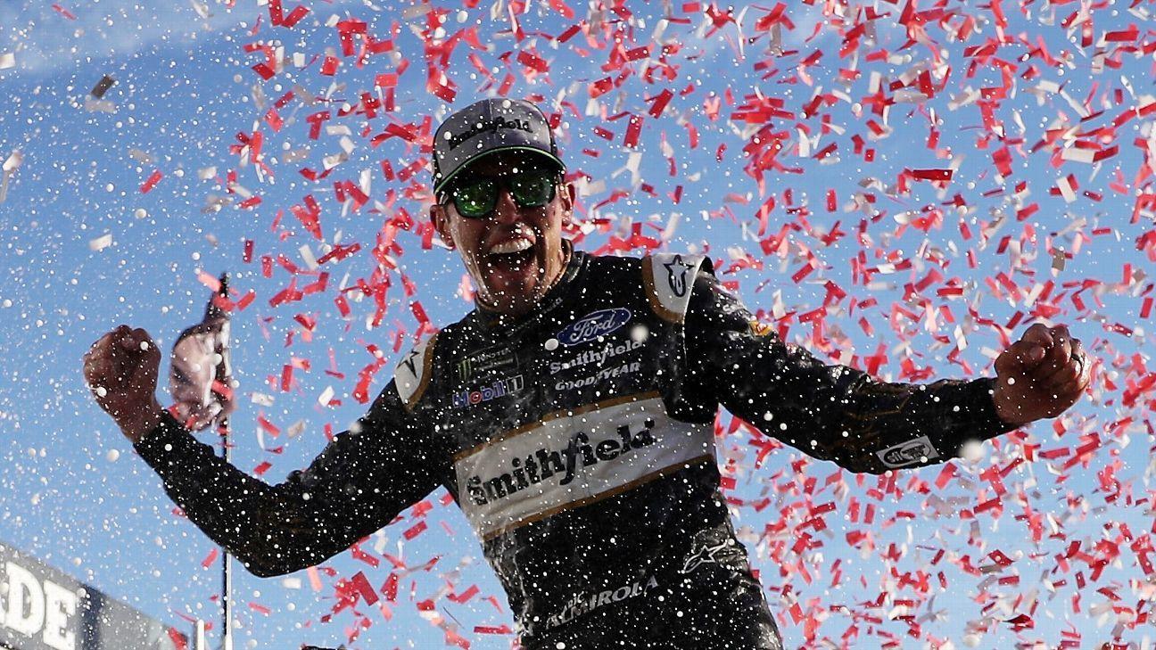 Aric Almirola advances in NASCAR playoffs with Talladega win