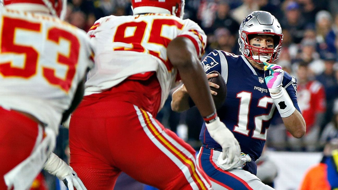 Chiefs linebacker Breeland Speaks says he feared getting flagged when he was wrapping up Tom Brady, so he let him go and the quarterback scored.
