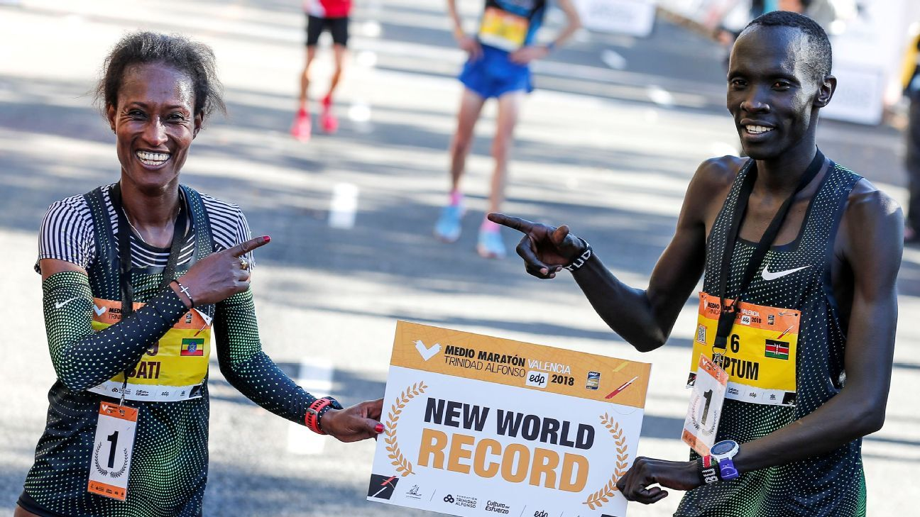 Kenya's Kiptum sets half-marathon world record