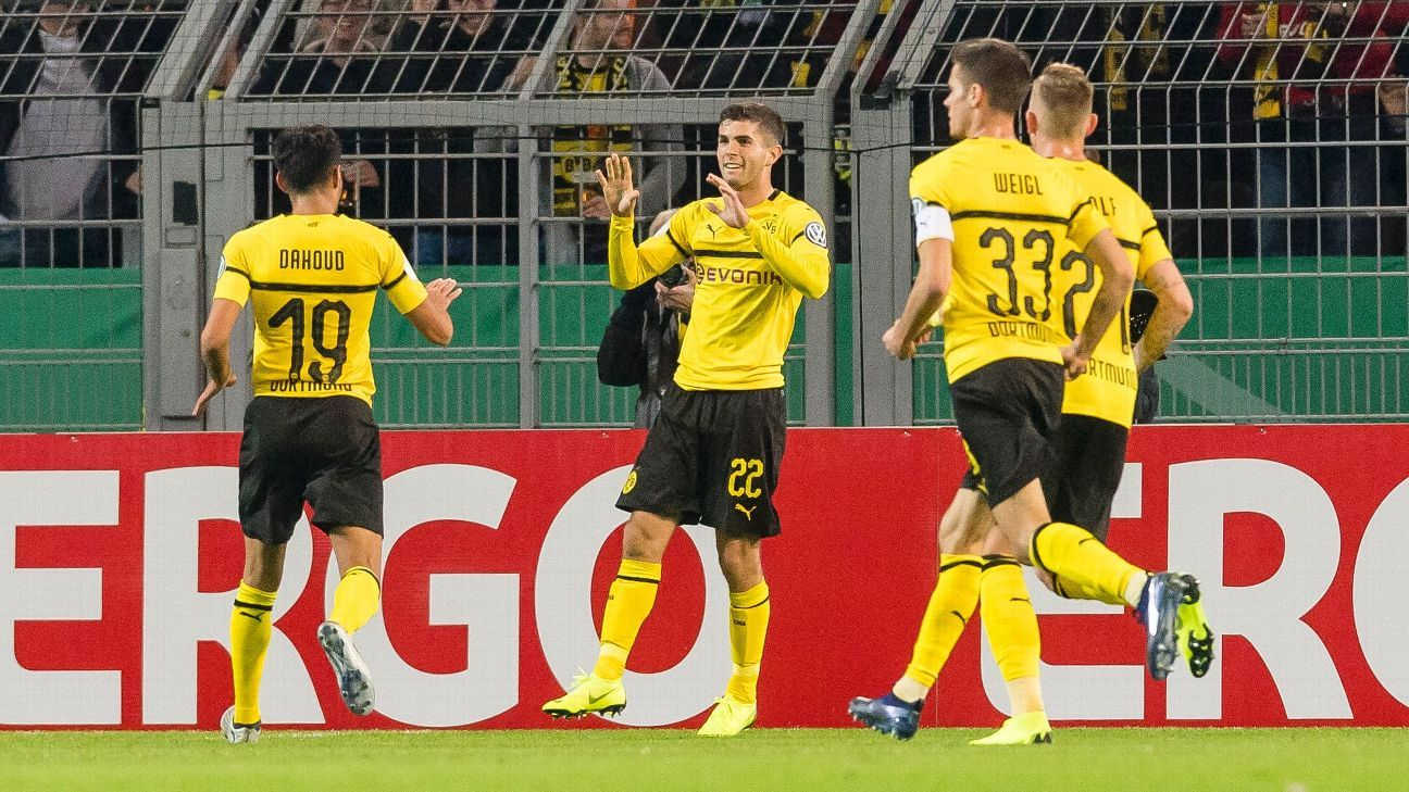 Christian Pulisic has goal and assist in Dortmund win against Union Berlin