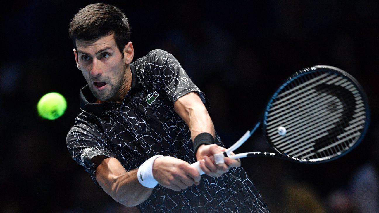 ATP World Tour Finals - Novak Djokovic returning serve with interest