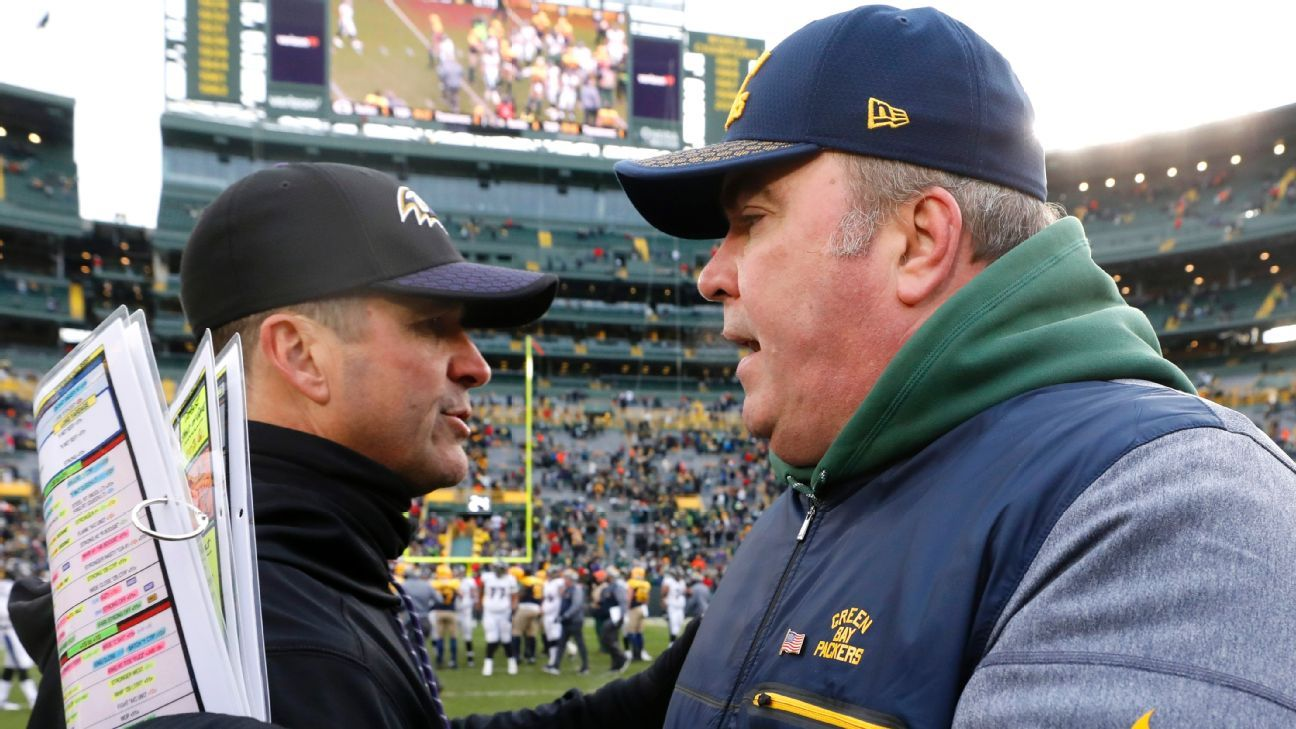 Mike McCarthy and John Harbaugh have Super Bowl-winning résumés but they could be coaching for their jobs down the stretch.