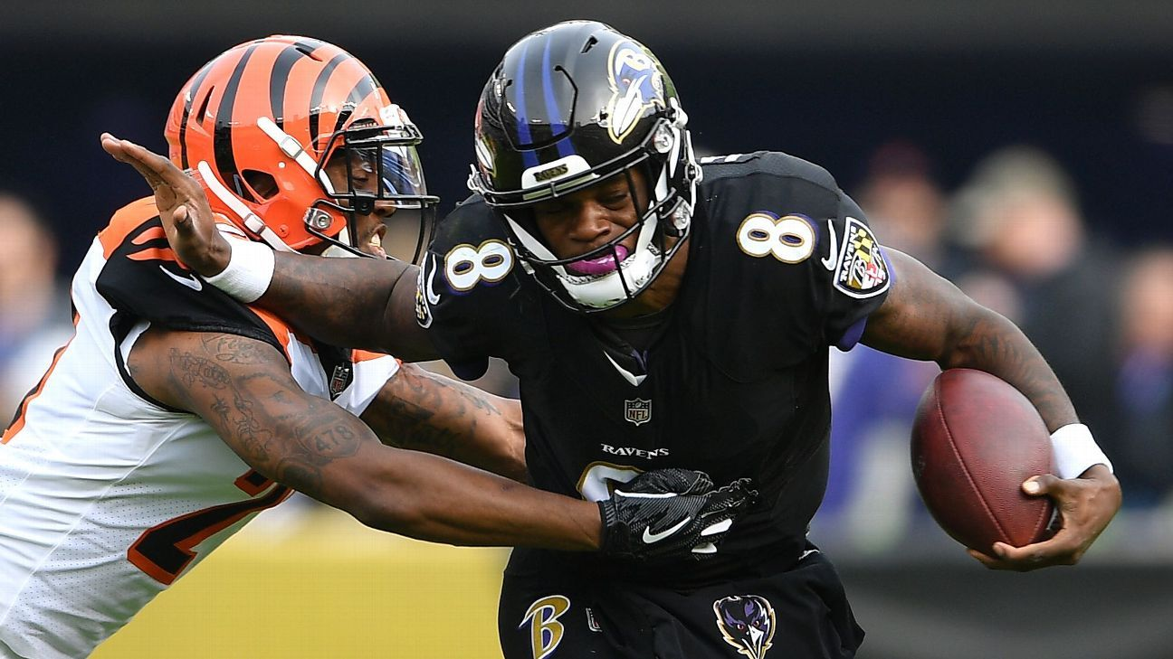 Bengals coach Marvin Lewis questions whether Ravens QB Lamar Jackson can survive running so much.