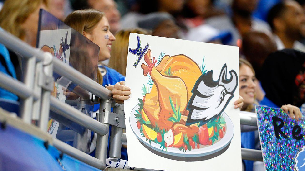 Día de Acción de Gracias: Eagles en Lions