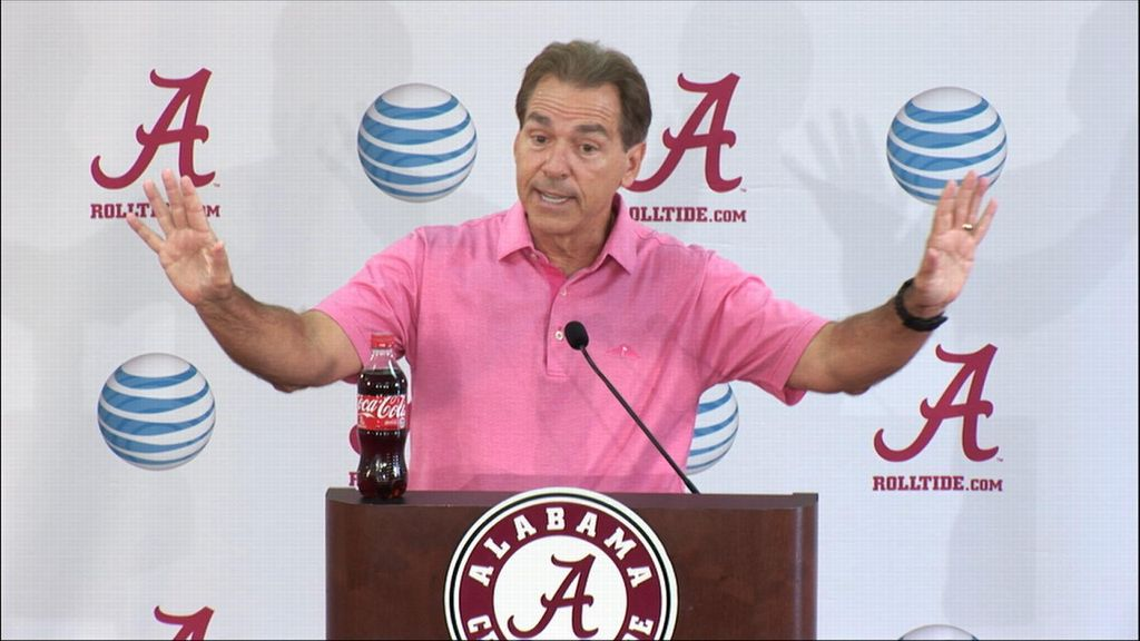 Saban lashes out at media