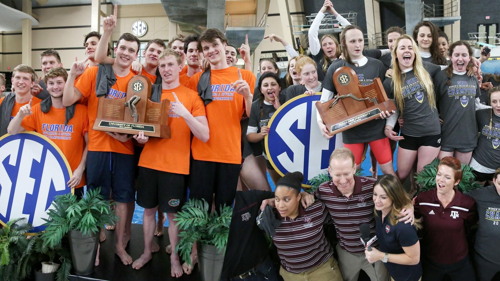 Florida men, A&M women earn SEC Championship