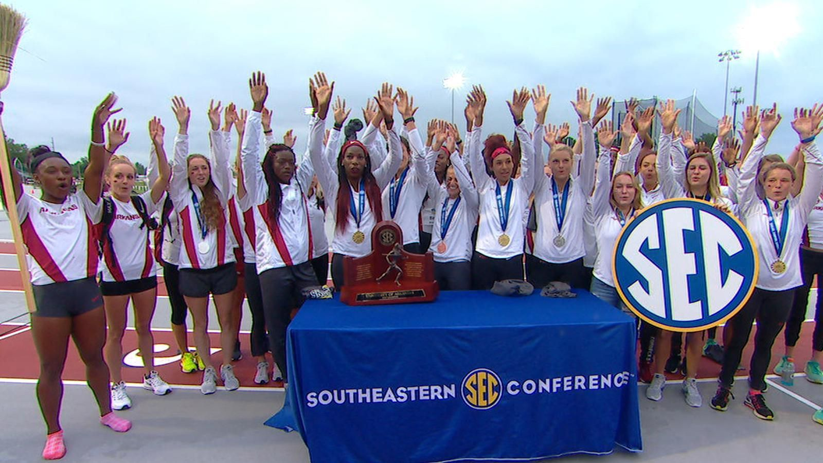 Arkansas women claim SEC Outdoor Championship