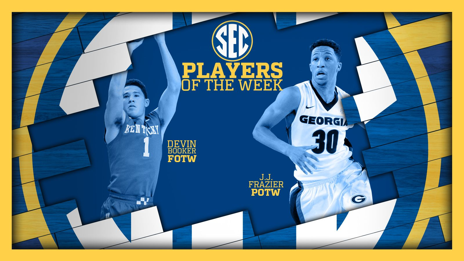 Frazier and Booker named Players of the Week