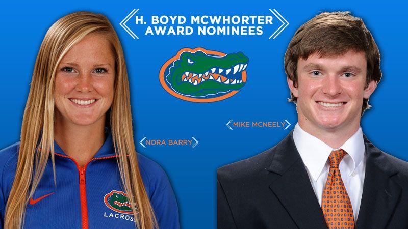 Florida nominees for McWhorter Award