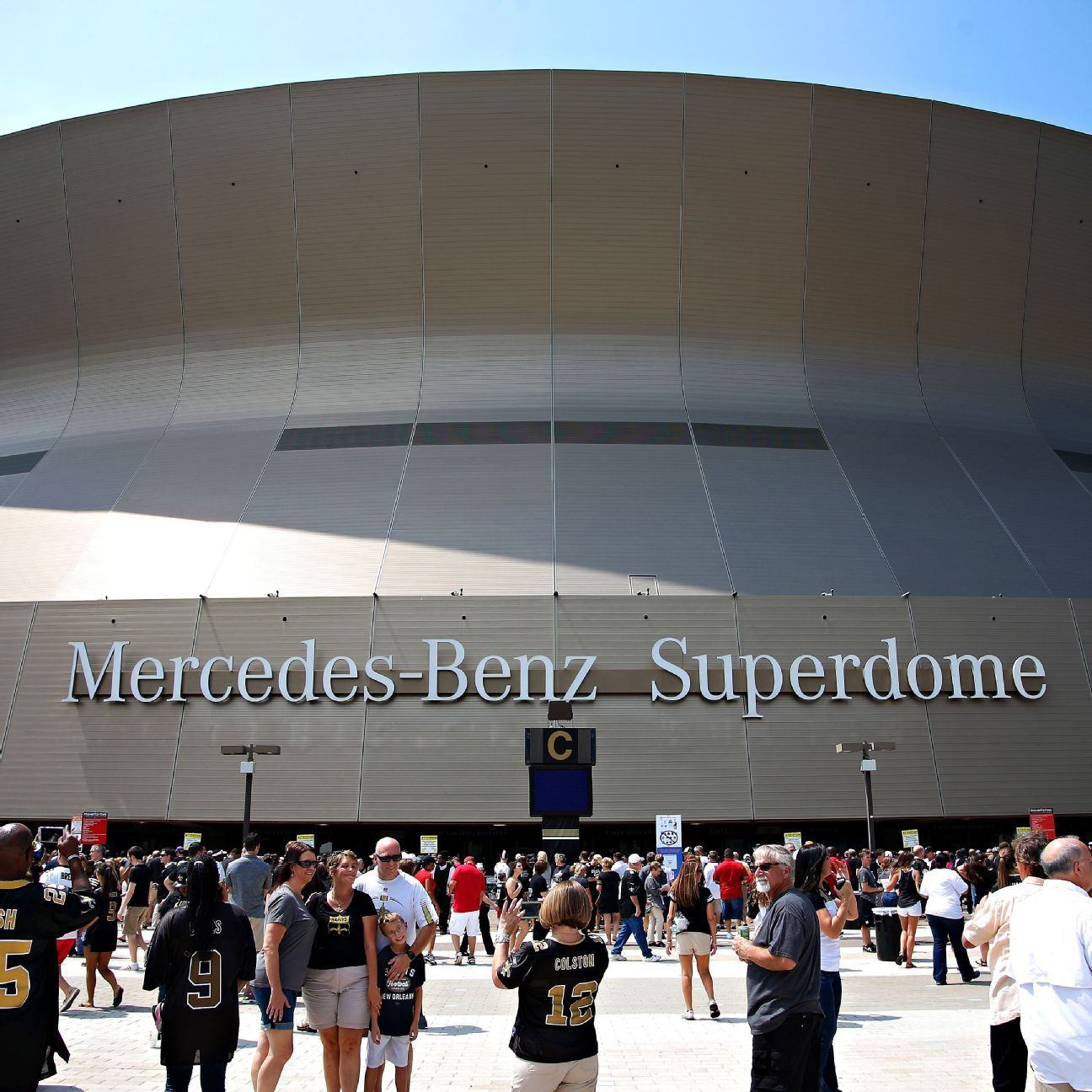 New orleans saints mercedes benz superdome commemorate for Mercedes benz superdome tickets