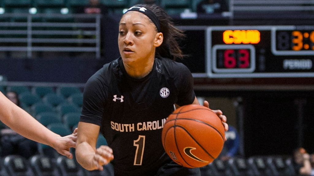 No. 2 South Carolina women beat Hawaii 67-51