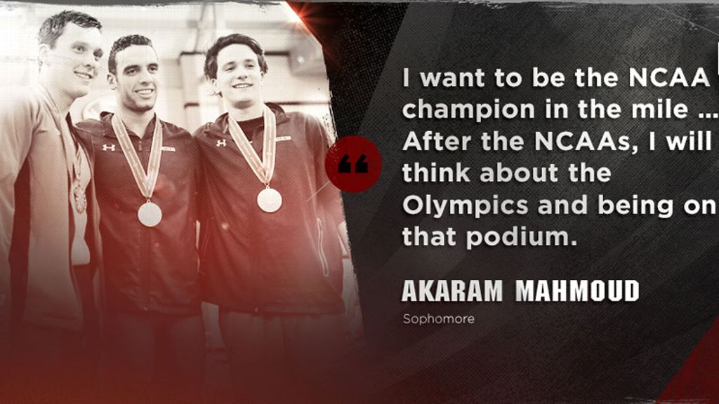 Akaram Mahmoud looks ahead to NCAAs, Olympics