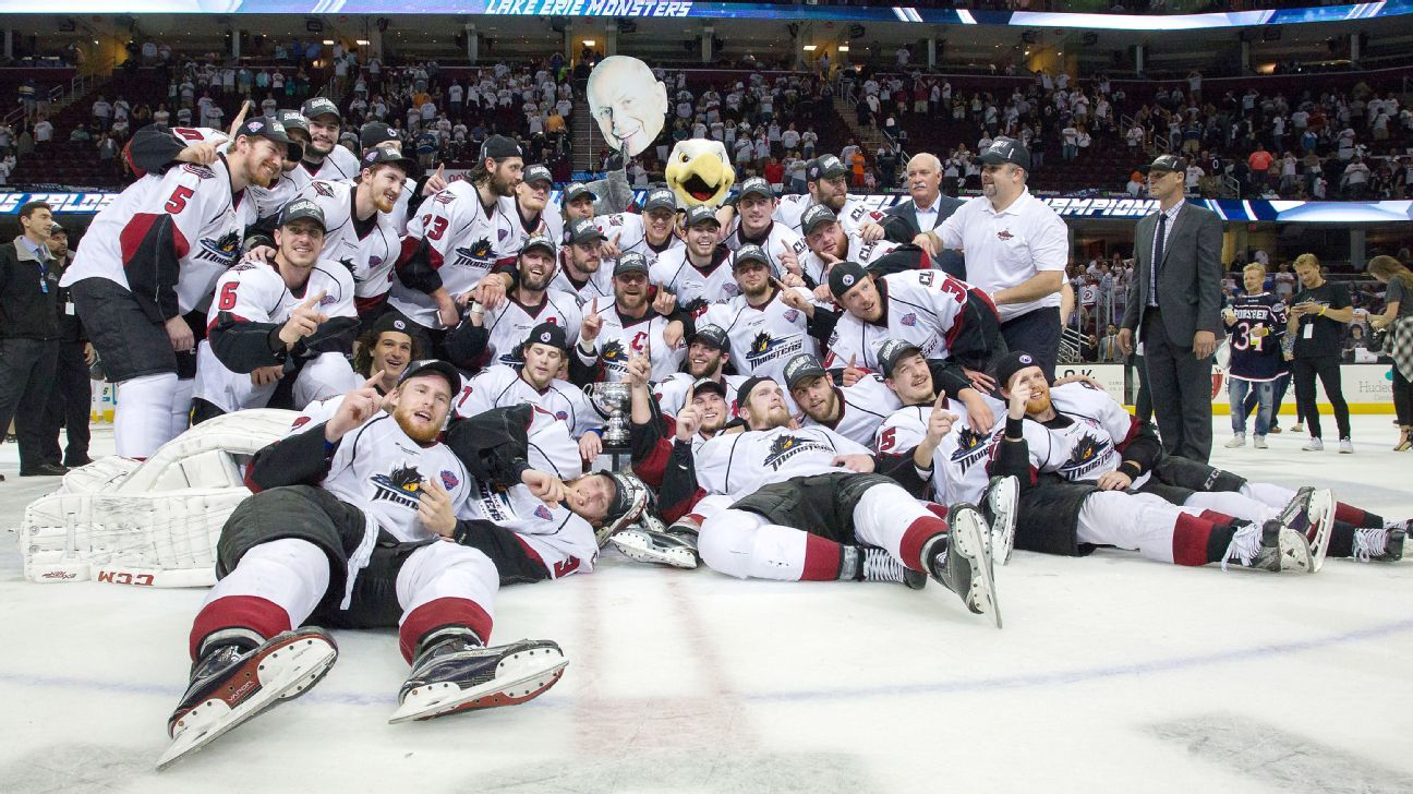 Free Nascar Racing Games >> Lake Erie Monsters sweep the Hershey Bears to win the AHL's Calder Cup