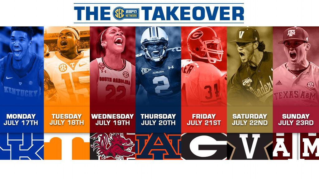 SEC Network Takeover Schedule