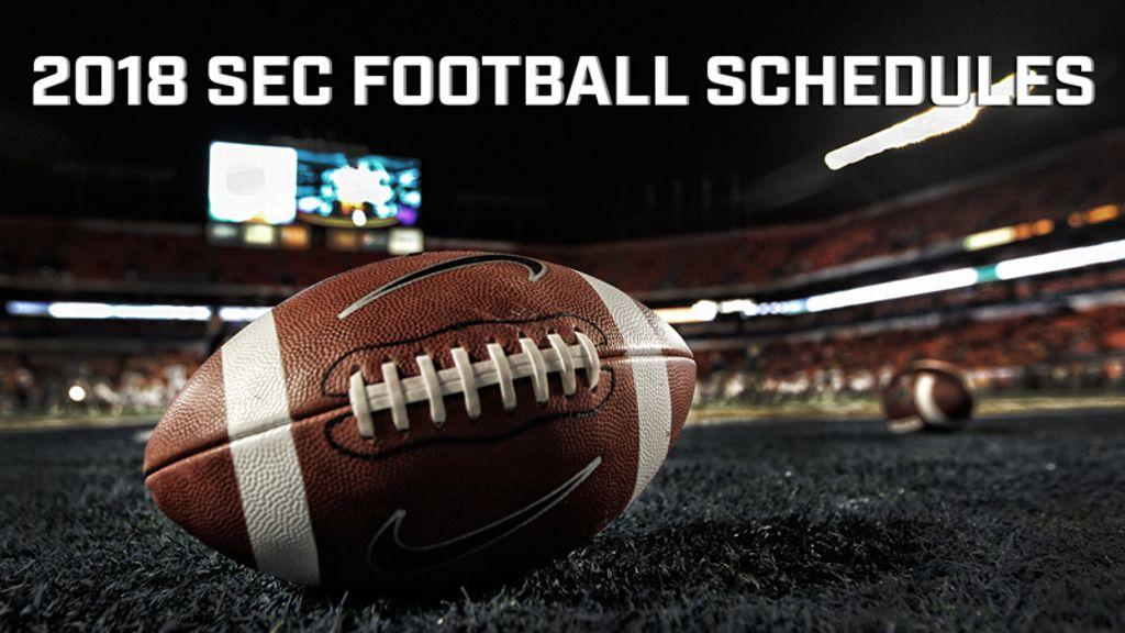 SEC releases 2018 football schedule