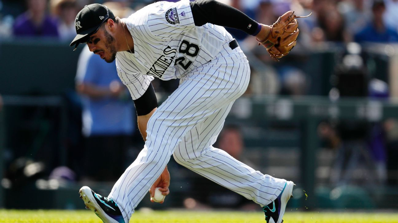 Nolan Arenado leaves Rockies game against Dodgers for discomfort in shoulder