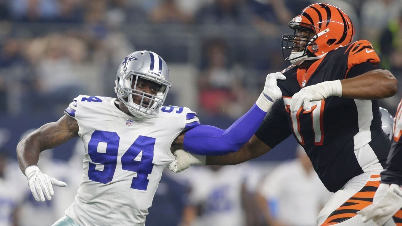 Defensive end Randy Gregory played his first game with the Dallas Cowboys since 2016