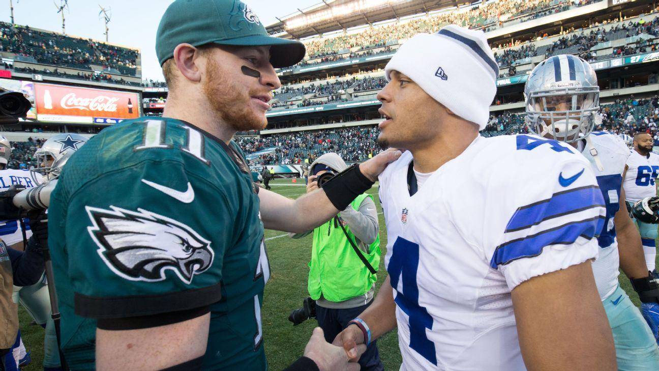 Prescott puede tener más en la línea en esta reunión con Wentz - NFL Nation