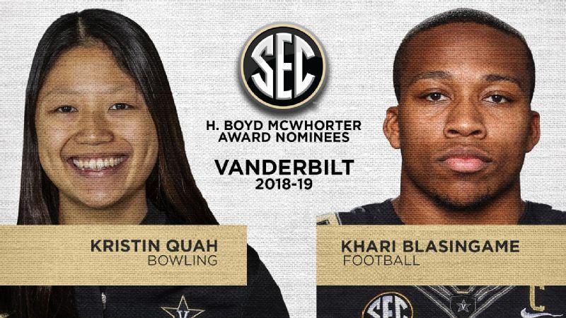 Vanderbilt nominees for 2019 McWhorter Award announced