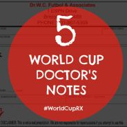 5 World Cup Doctor's Notes