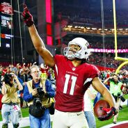 Larry Fitzgerald celebrates