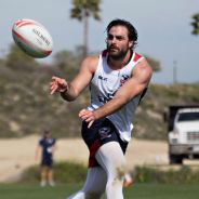 Nate Ebner trains with the USA Eagles Sevens